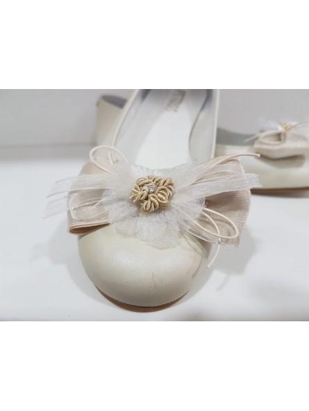 Zapato de comunión manoletina niña