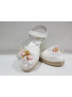 Zapato esparto comunión niña