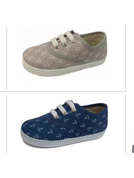 Zapato niño inglés cordón modelo Ancora